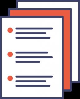 Disegni di fogli e documenti